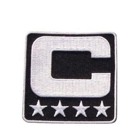 2017-es kapitány C javítás vasaló vagy varrás a Jersey Football, Baseball. Foci, Jégkorong, Lacrosse, Kosárlabda