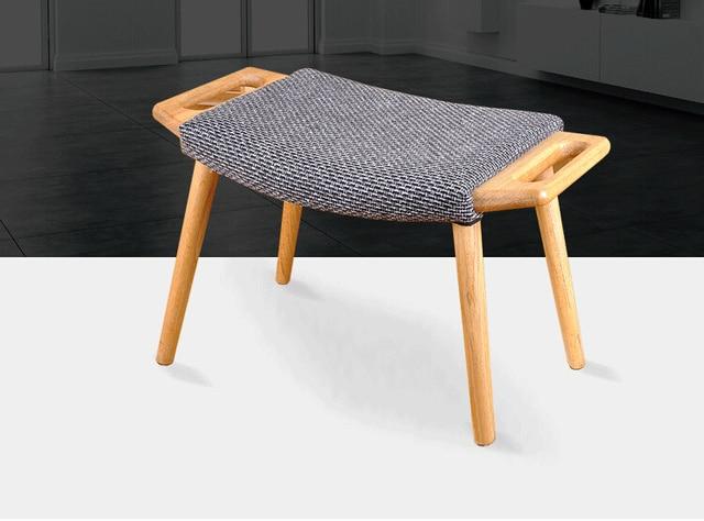 Sgabello pouf con cuscino del sedile di legno living room