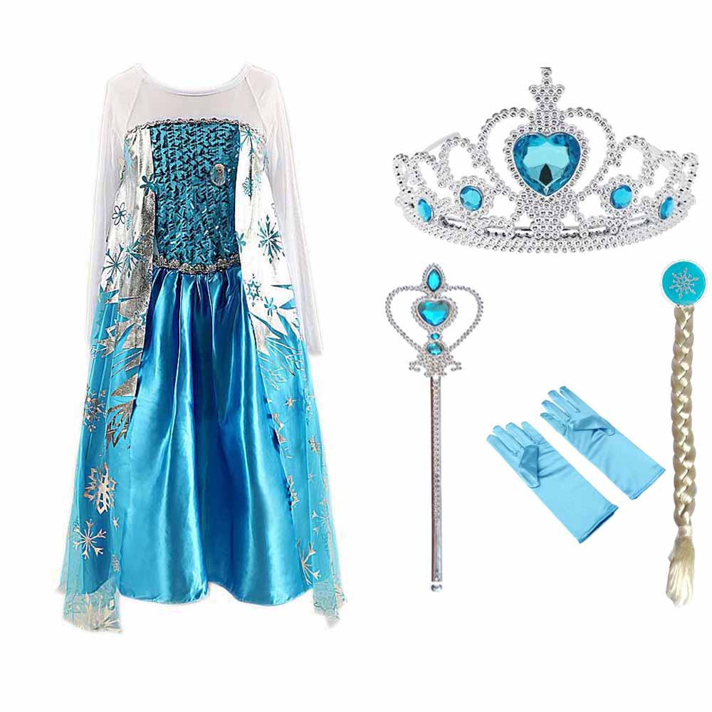 Tiange Wedding Elsa Anna Dress Girls Costume Cute Party Princess Cosplay Baby Dresses Children s Christmas Tiange Wedding Elsa Anna Dress Girls Costume Cute Party Princess Cosplay Baby Dresses Children's Christmas Birthday Set Clothes