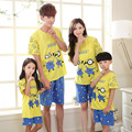 2016 Family Pajama Sets Mother Daughter Father Son Matching Summer Short Character Sleepwear Outfits Mom Kids Pijama Clothes Set