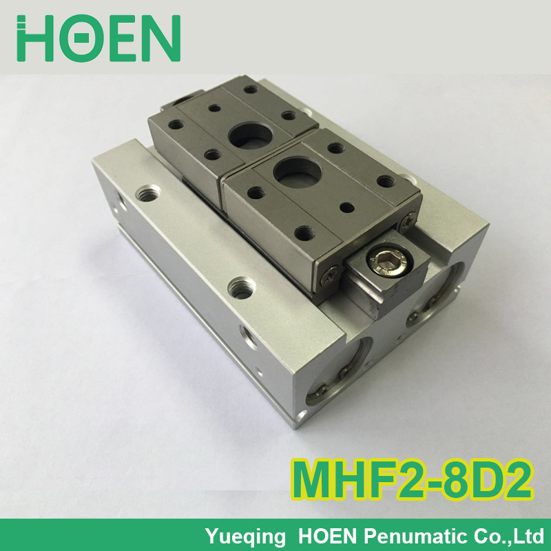 MHF2-8D2 SMC type air pneumatic gripper MHF2 series with strong gripping force MHF2 8D2 high quality double acting pneumatic gripper mhy2 25d smc type 180 degree angular style air cylinder aluminium clamps