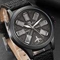 Мужские часы с гравировкой двигателя самолета, мужские наручные часы с большим циферблатом, спортивные наручные часы для пилота, мужские ча...