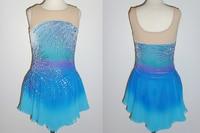 Hot Sales Ice Figure Skating Dresses Fashion New Brand Competition Child Figure Skating Dress Crystal DR3701