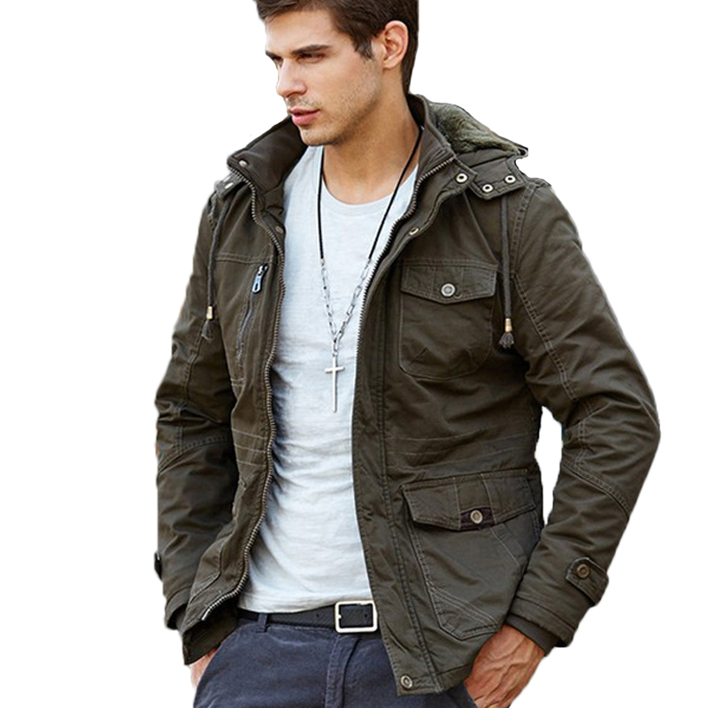 Winter Coat Men Casual Cotton Thick Warm Outwear Jackets Men's Windbreak Hooded Parka Military Overcoat Brand Coats Casacos