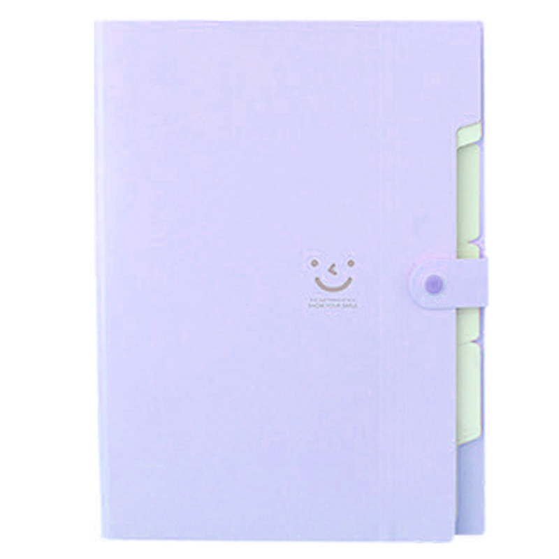 Kawaii Folders Stationery Carpeta File Folder 5layers Archivadores Rings A4 Document Bag Office Carpetas