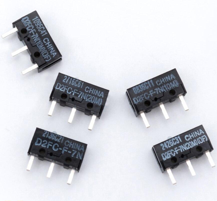 10pcs/lot New original D2FC series Gaming mouse micro switch Mouse button D2FC-F-7N (10M) D2FC-F-7N(20M)(OF) D2FC-F-K(50M) 0.74N