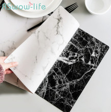45*30cm Marble Pattern Placemat PVC Western Table Mat Non-slip Insulation Pad Hotel Tables For Dining