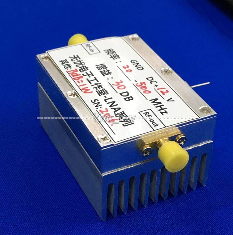 Free Tracking 20MHz to 500MHZ 1W amplifier HF FM VHF UHF transmitter broadband RF power amplifier