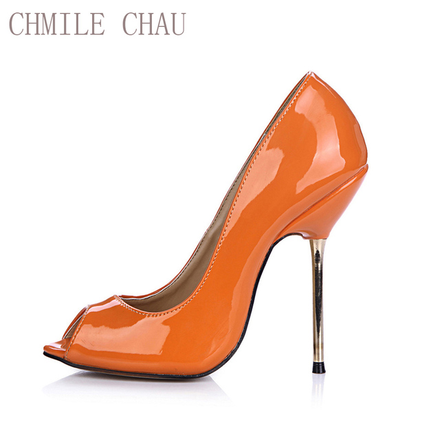 4181baadce5e CHMILE CHAU Sexy Party Shoes Women Peep Toe Stiletto High Heels Shallow  Concise Ladies Pumps Zapatos Mujer Plus Sizes 3845-a7