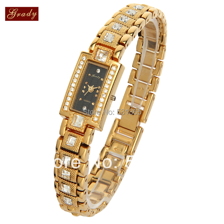New product gifts for the new year and christmas crystal watch women rhinestone watches gold plated  free shipping bringing in the new year