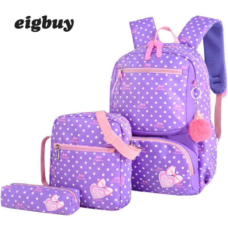 3 sztuk/zestaw druk japoński torba szkolna plecak tornister moda piękny plecaki dla dzieci dziewczyny School Student Mochila