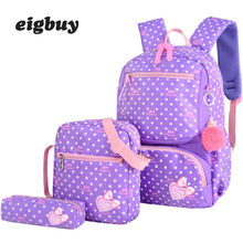3pcs/set Printing Japanese School Bag Backpack Schoolbag Fashion Lovely Backpacks For Children Girls Student Mochila