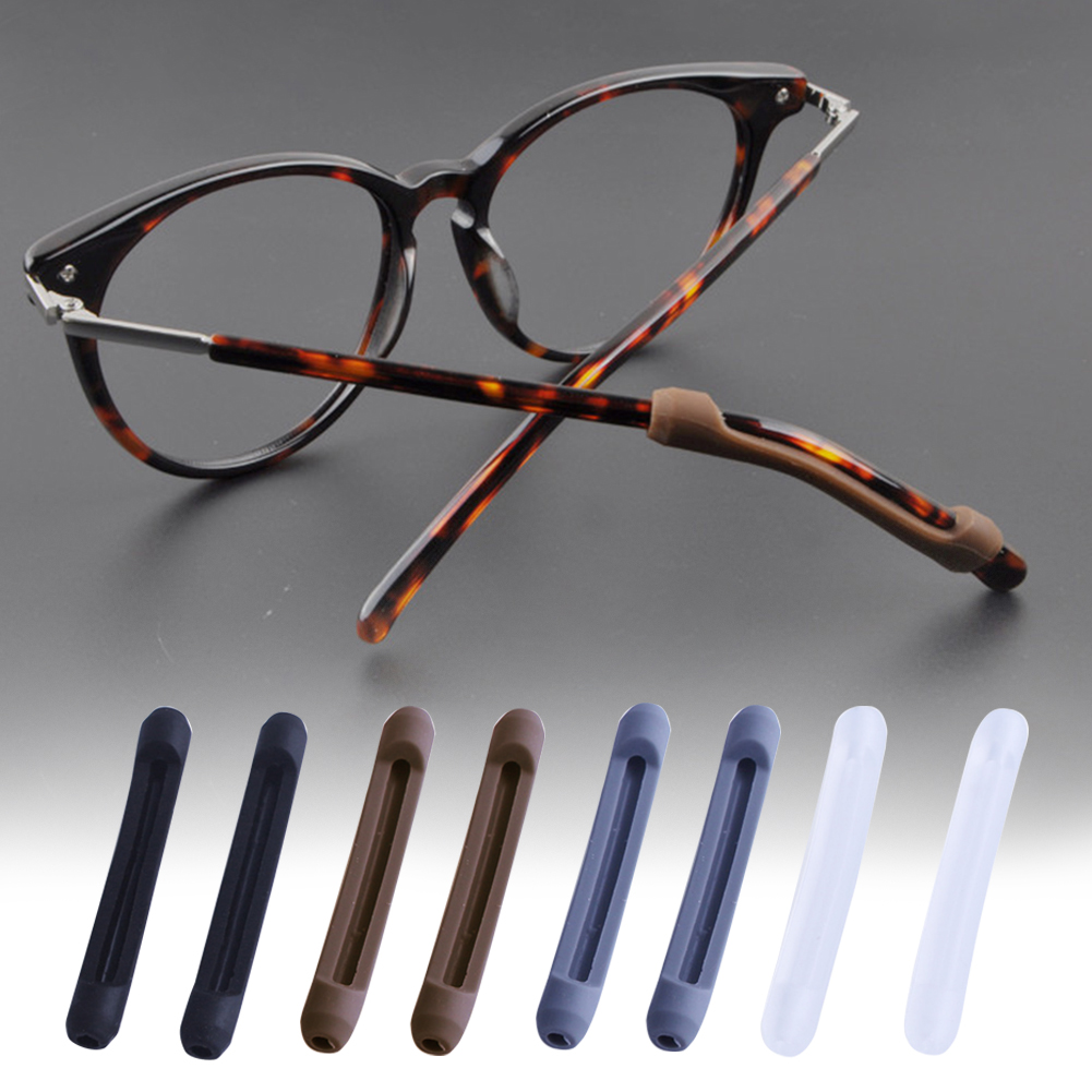 5pairs/set Soft Silicone Wear Resistance Ear Hook Accessory Sets Temple Tip Eyeglass Leg Anti Slip For Sunglasses Holder Sports