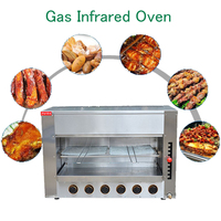 Free Standing Roasters Surface Luxury Gas Oven Steel Infrared Vertical Oven With Four Head Salamander FY