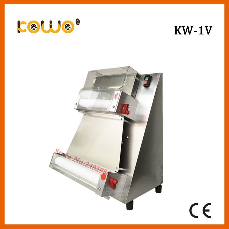 KW 1A commercial stainless steel ce certification 16 inch electric bread dough sheeter machine pizza dough roller for bakery