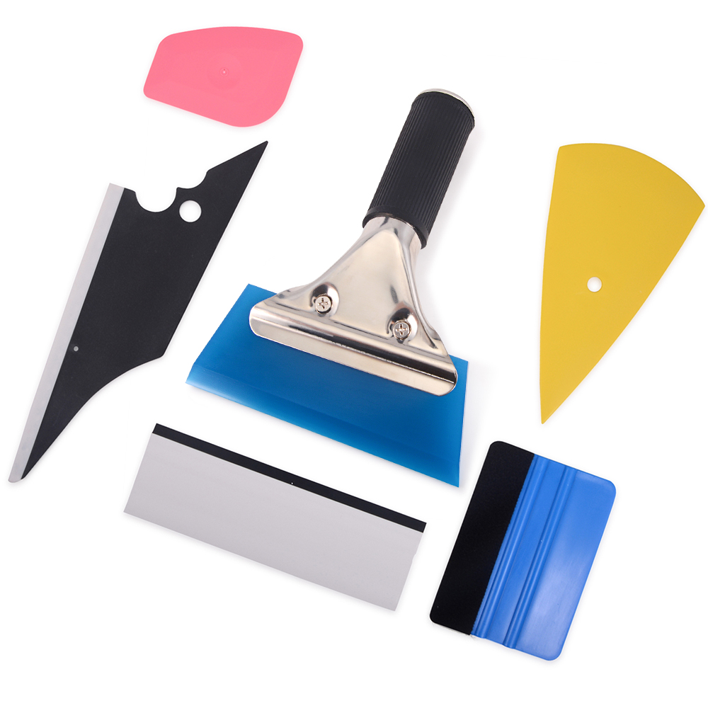 EHDIS 6PCS Car Wrap Vinyl Film Tools kit Carbon Fiber Squeegee Ice Scraper Cleaning Window Tints Sticker
