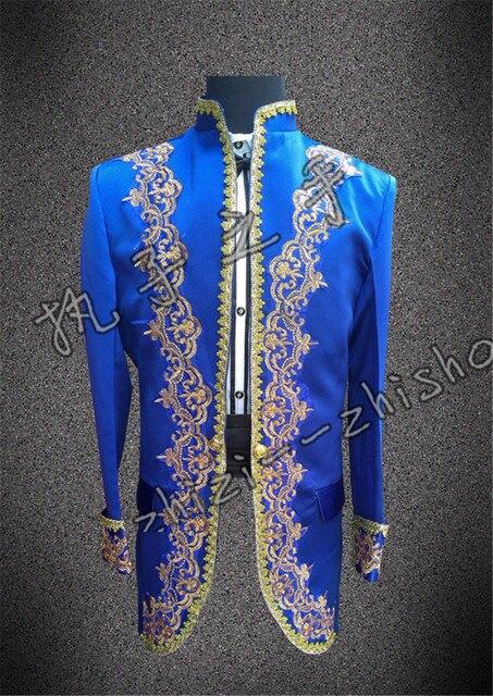 2015 nueva moda chaqueta chaqueta de los hombres vestido de novia Novio masculino ropa de moda real vestido formal masculina cantante dancer mostrar