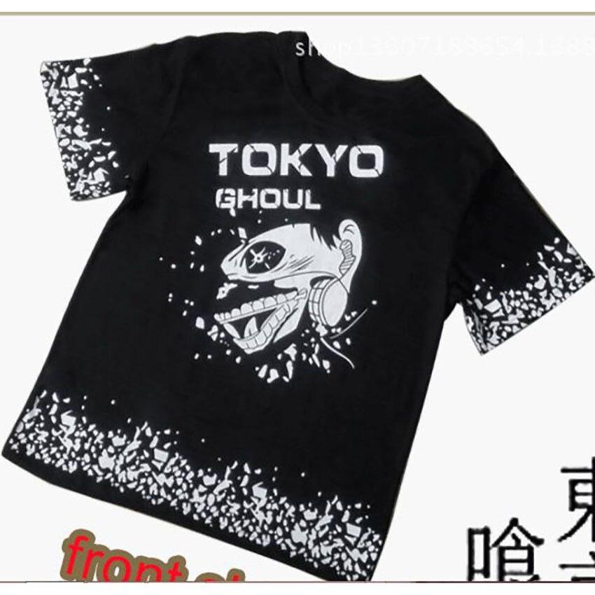 2016 New Fashion Anime Tokyo Ghoul Kaneki Ken Cosplay T Shirt Loose Clothes Teenager Costume  Cotton Casual T-shirt