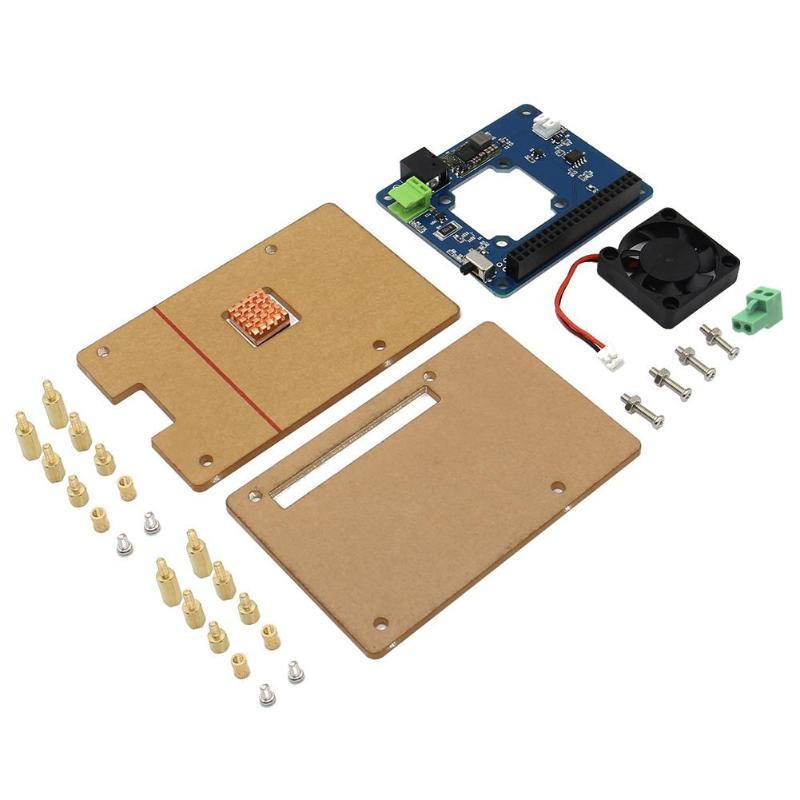 Cooling Fan With Power Expansion Board and Acrylic Case and Heat Sink for Raspberry pi 3 / 2B / B+ Cooler original 1gb ras pi 3 kit raspberry pi 3 model b board acrylic case cooling fan sic heat sink 5v2 5a power charger 2 4g keyboard