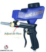 LEMATEC AS118 Gravity Feed Air Sandblasting Gun Sandblaster Gun Remove Spot Rust With One Free Tip