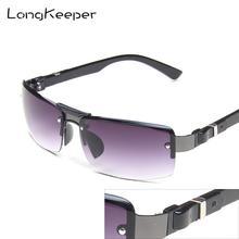 LongKeeper Special Price Rimless Sunglasses Men Fashion Metal Sun Glasses for Driving Male Gradient Lens UV400 gafas de sol