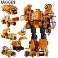 5 em 1 Brinquedos de Liga de Metal Big Size Brinquedos Deformação Carro Robô Combinador Voltron Caminhão Engenharia Presentes