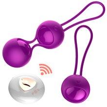 Remote Control Vibrator Balls Vaginal Tightening Exercise Ball Orgasms Massage Adult Erotic Sex Toys for Woman Geisha Ball недорого
