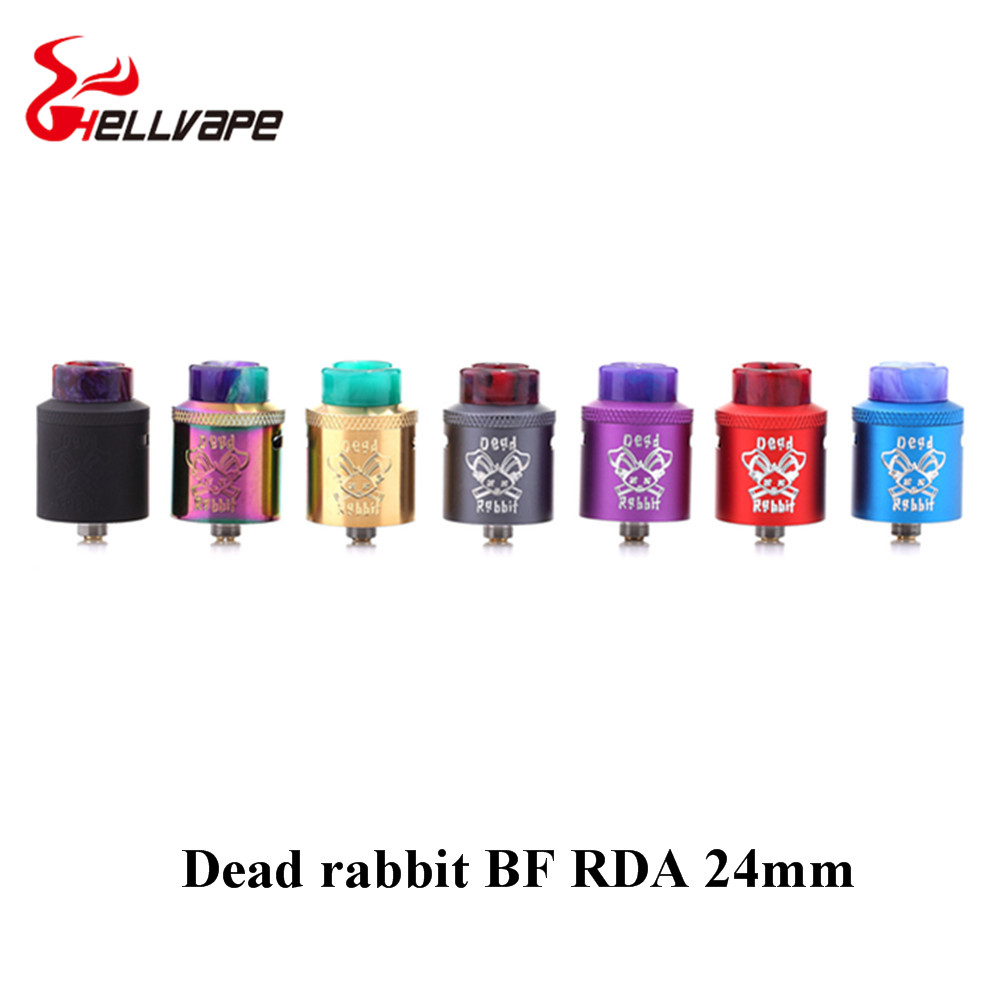 original Hellvape Dead Rabbit BF RDA Tank aluminum Supports Single/Dual Coil Vape For elctronic cigarette squonk box Mod niko 50pcs chrome single coil pickup screws