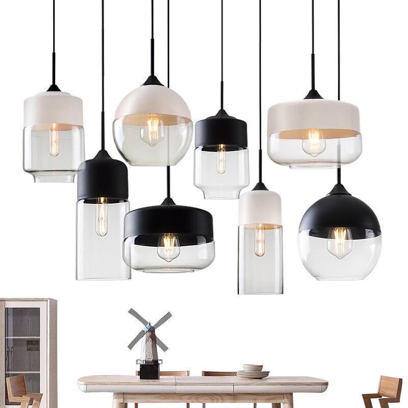 Современный подвесной стеклянный подвесной светильник, светильники e27 e26 светодиодный светильник для кухни, ресторана, кафе, бара, гостиной