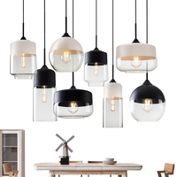 Modern Contemporary hanging Glass Pendant Lamp Lights Fixtures e27 e26 LED for Kitchen Restaurant Cafe Bar living room