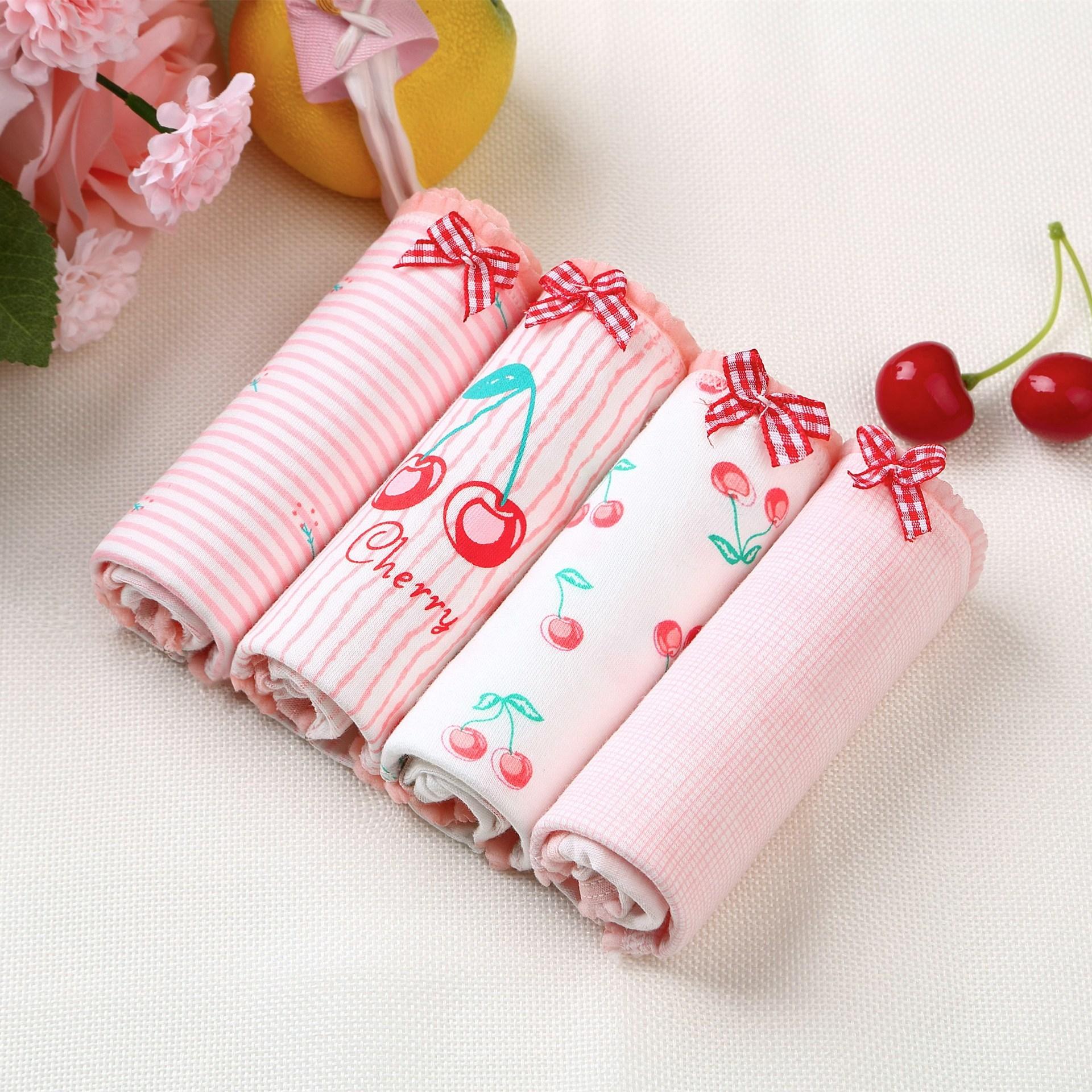 Women's   panties   cotton gril briefs Strawberry watermelon cherry print underwear female sexy lingerie ladies underpants 2019