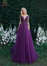 Фиолетовое платье для выпускного вечера дешевое роскошное Тюлевое