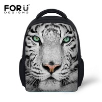 New 12 inch kids animal backpack boy school bags,tiger head backpack 3d printing bagpack,small baby backpack child mochila