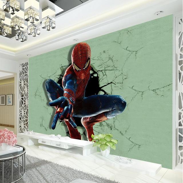 3D Superheld Spiderman Fototapete Tapete Boy Kid Schmetterlings Raum Dekor Kundenspezifische  Marvel Film