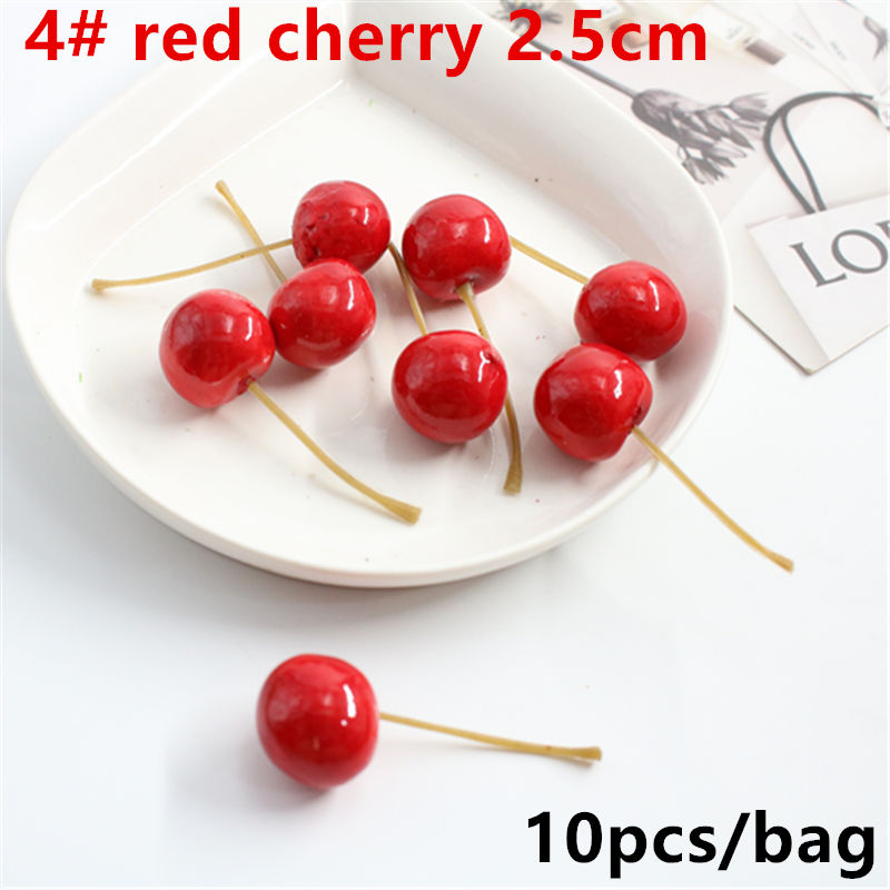 10PCS Fruit And Vegetables Simulation Vegetable False Cherries Teaching Props Dining Room Decoration Products Plastic Food Finis