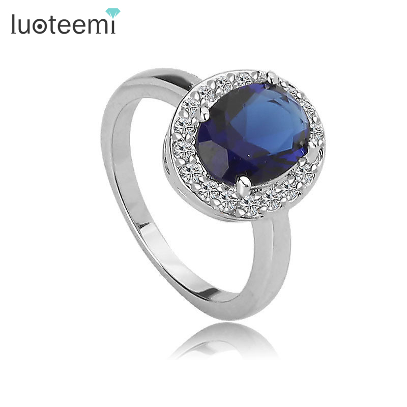 LUOTEEMI New Design High Quality Women Wedding Jewelry Fashion Cubic Zircon Ring For Dinner Party Noble Accessories ...