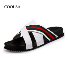 5d8825005296 COOLSA Men s Summer Outdoor Slippers Fashion Personality Beach Flip Flops  Breathable Home Slides Large Size Shoes