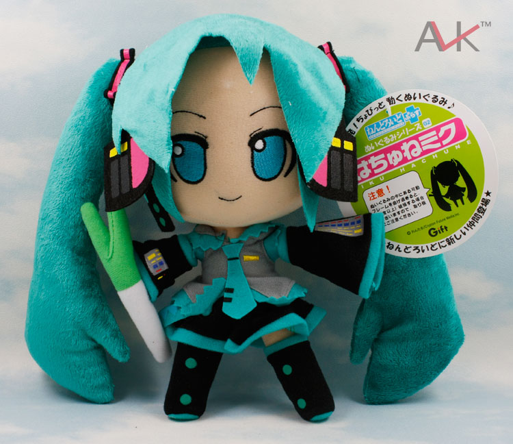 Anime Hatsune Miku Vocaloid Smile Cute Cartoon Plush Toy Doll