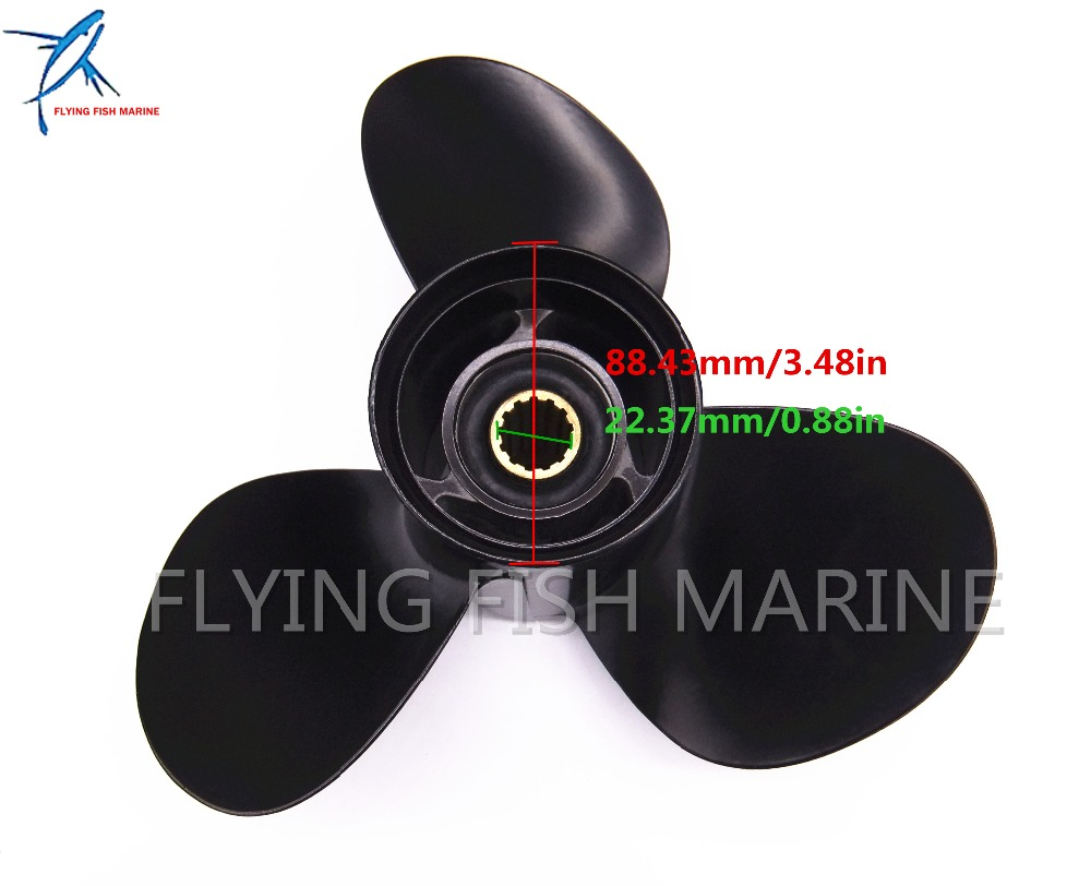 Propeller 11 1//8x13-G for Yamaha 40HP 50HP 55HP Outboard