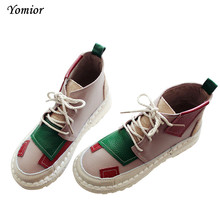 Yomior Handmade New Autumn Winter Ankle Boots Real Cow Leather High Quality Women Boots Leather Shoes Warm Snow Boots