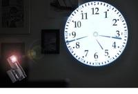 fashion electronic wall clock Cold Light Source Power Saving Projection Alarm clock digital luminous mute creative