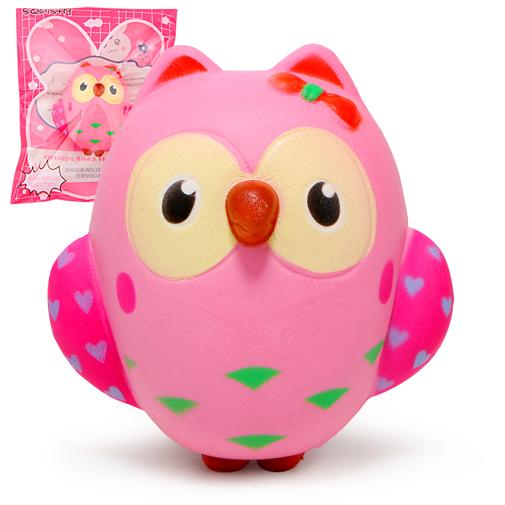 Cute Owl Squishy Slow Rising Cream Scented Squeeze Toys Original Packaging