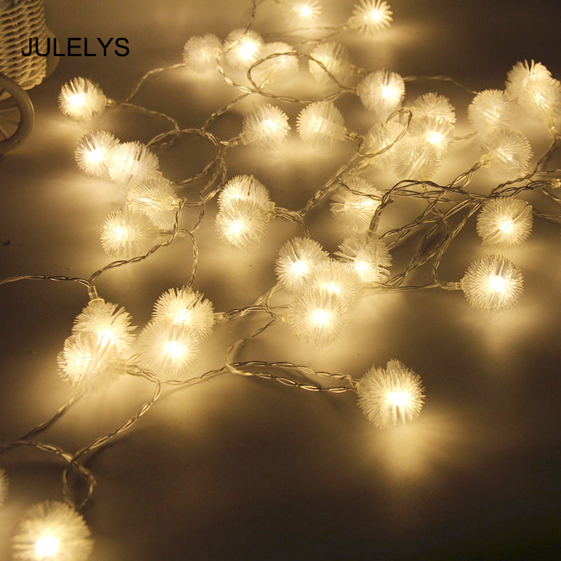Led String Nice Julelys Ac 110v/220v 5m 40 Garland Led Ball String Lights Decoration For Wedding Holiday Birthday Home Christmas Fairy Lights To Have A Unique National Style