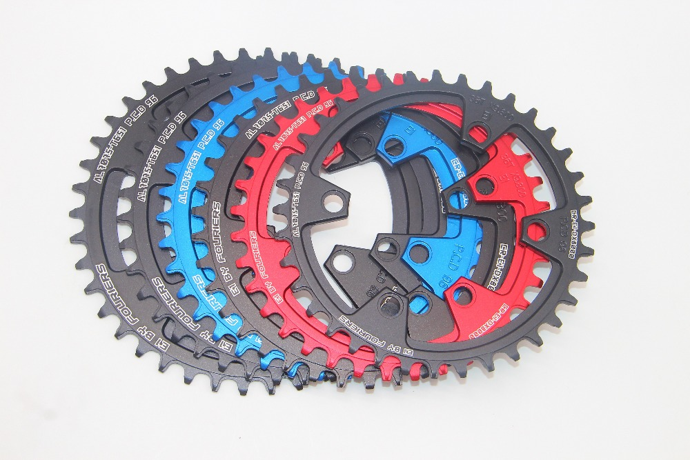 Black FOURIERS 36T Chainring Narrow Wide Teeth For SHIMANO XT M8000 11Spd