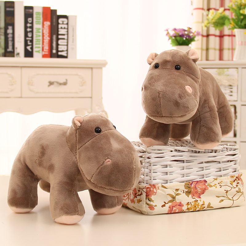 2017 New Hot Simulation Hippo Plush Toys Lovely Soft Stuffed Doll Toy Hippos for Girls,Kids Birthday Gift Wedding Christmas Gift lps toy 2pcs lovely pet shop animals cats kids action figures lps toys for children birthday christmas gift