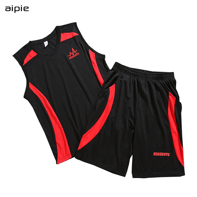 все цены на aipie New Children Boy's Sport Sets Brand Fashion Patchwork Color Printing Letters Basketball Suits For 9-16 years kids Wear онлайн