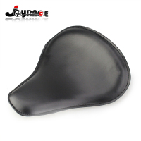 Motorcycle Synthetic Leather Solo Slim Seat Large for Harley Chopper Custom Bobber Seat