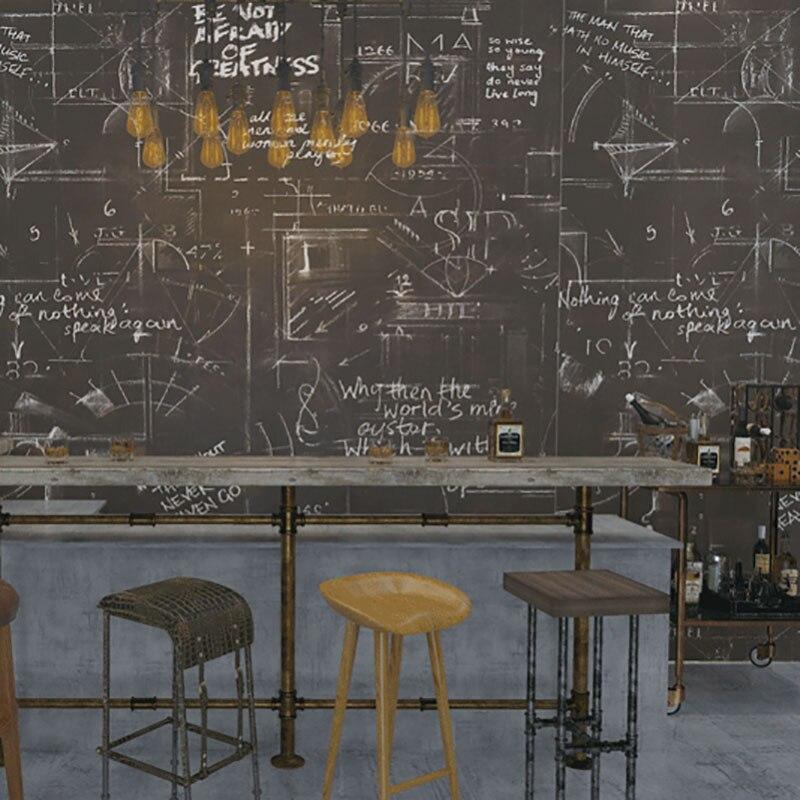Papier peint abstrait géométrique Alphabet anglais affiche papier peint Loft pour Bar Restaurant Mural papier de Contact papel de parede