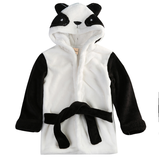 Fashion Newborn baby boy and girl cotton coats cartoon elephant coat Hooded Bathrobe Kids Bath Robe Infant 1