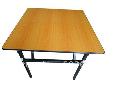 Hot Sale Folding Square Folding Banquet Table Plywood Laminated Top
